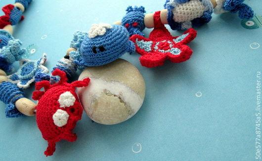 """Слингобусы ручной работы. Ярмарка Мастеров - ручная работа. Купить Слингобусы морские с игрушкой   """"Морской коктейль """"рыбка кит звезда. Handmade."""