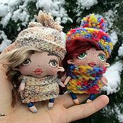 Подарки к праздникам ручной работы. Ярмарка Мастеров - ручная работа Зимние куколки. Handmade.