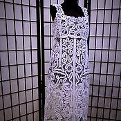 """Одежда ручной работы. Ярмарка Мастеров - ручная работа Сарафан """"Морозные узоры"""" прямого покроя. Handmade."""
