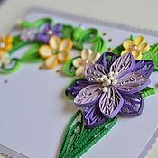 Открытки ручной работы. Ярмарка Мастеров - ручная работа Фиолетовый букет. Handmade.