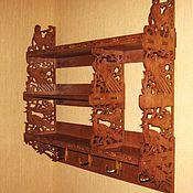 Для дома и интерьера ручной работы. Ярмарка Мастеров - ручная работа Полка-органайзер с крючками. Handmade.