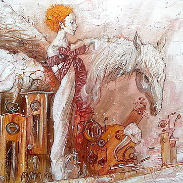 """Картины и панно ручной работы. Ярмарка Мастеров - ручная работа """"Зимний сон о весне"""". Handmade."""