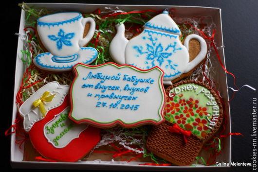 Кулинарные сувениры ручной работы. Ярмарка Мастеров - ручная работа. Купить Подарок для бабушки. Handmade. Разноцветный, имбирные пряники