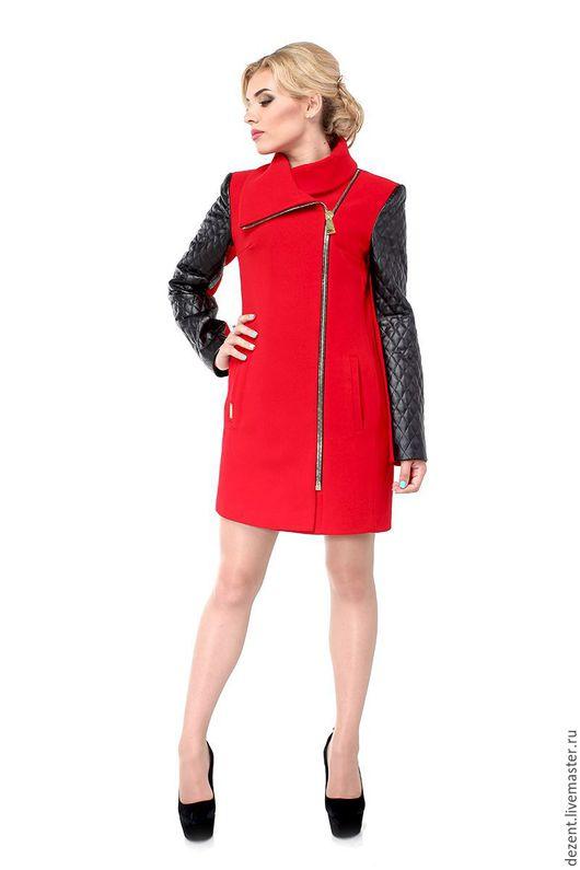 Верхняя одежда ручной работы. Ярмарка Мастеров - ручная работа. Купить Пальто демисезонное M-128-01-D. Handmade.