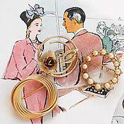 Винтаж handmade. Livemaster - original item 3 brooches, Sarah Coventry, Napier, Rose, round brooch, set. Handmade.