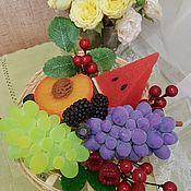 Мыло ручной работы. Ярмарка Мастеров - ручная работа Корзина фруктов из мыла. Handmade.