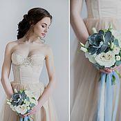 Свадебный салон ручной работы. Ярмарка Мастеров - ручная работа Корсетное свадебное платье Ice Coffee. Handmade.