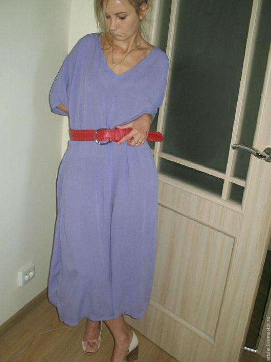 Платья ручной работы. Ярмарка Мастеров - ручная работа. Купить распродажа бохо платье (хлопок, сиреневый). Handmade. Хлопок, бохо