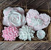 Косметика ручной работы. Ярмарка Мастеров - ручная работа Набор мыла цветочный. Handmade.