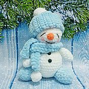Куклы и игрушки handmade. Livemaster - original item Crochet toy plush snowman Snegovik. Handmade.