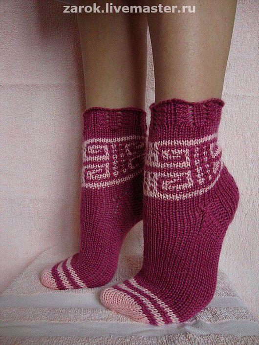 """Носки, Чулки ручной работы. Ярмарка Мастеров - ручная работа. Купить Носочки """"Теплая тайна"""". Handmade. Вязаные носки, уютно"""