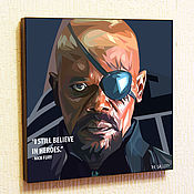 Картины и панно handmade. Livemaster - original item Nick Fury`s
