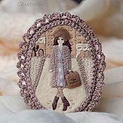 Украшения handmade. Livemaster - original item Spring in Paris. Felt brooch with embroidery. Handmade.