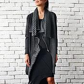 Одежда ручной работы. Ярмарка Мастеров - ручная работа Длинная женская куртка, серая куртка. Handmade.