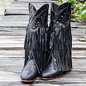 Обувь ручной работы handmade. Livemaster - original item Womens leather boots with fringe Kasandra. Boots of genuine leather. Handmade.