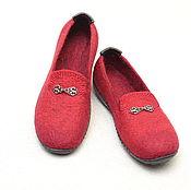 Обувь ручной работы. Ярмарка Мастеров - ручная работа Мокасины валяные женские. Handmade.