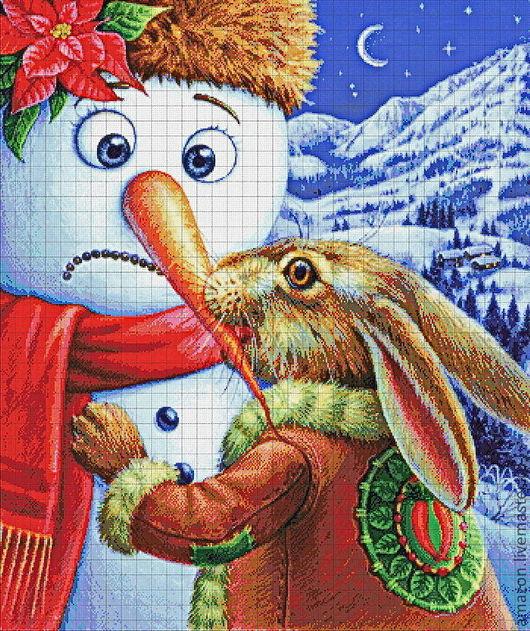 """Вышивка ручной работы. Ярмарка Мастеров - ручная работа. Купить Набор вышивания бисером """" Новогодний подарок  """"худ. М. Илиева. Handmade."""