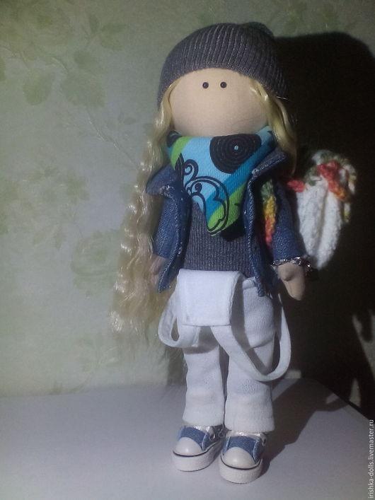 Коллекционные куклы ручной работы. Ярмарка Мастеров - ручная работа. Купить Интерьерная текстильная кукла Портретная.. Handmade. Синий, кукла