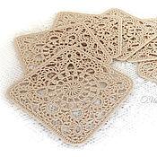 Для дома и интерьера handmade. Livemaster - original item Crocheted napkins - coasters.