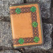 Канцелярские товары ручной работы. Ярмарка Мастеров - ручная работа Обложка для паспорта Irish. Handmade.
