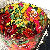 """Для дома и интерьера ручной работы. Ярмарка Мастеров - ручная работа Ваза """"Красные розы"""". Handmade."""