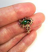 Украшения handmade. Livemaster - original item Ring with Marquis of chromdiopside from Yakutia. Handmade.