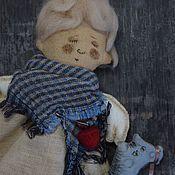 Куклы и игрушки ручной работы. Ярмарка Мастеров - ручная работа Чердачная кукла Спящий Ангел.Текстильный оберег на цветные сны)). Handmade.