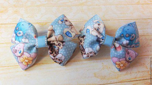 Детская бижутерия ручной работы. Ярмарка Мастеров - ручная работа. Купить Бантики для волос Теддики. Handmade. Бантики для волос