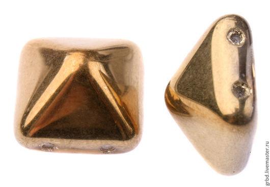 Для украшений ручной работы. Ярмарка Мастеров - ручная работа. Купить Чешская бусина-пирамидка pyramid 12mm 26441CR. Handmade.