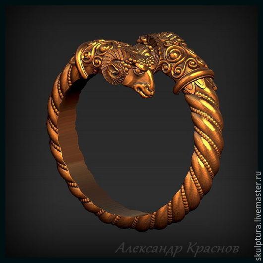 """Кольца ручной работы. Ярмарка Мастеров - ручная работа. Купить 3D модель - кольцо """"Золотое руно"""". Handmade. Кольцо"""