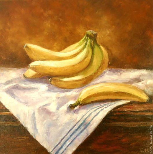 Натюрморт ручной работы. Ярмарка Мастеров - ручная работа. Купить Картина маслом Бананы. Handmade. Картина в подарок, живопись маслом