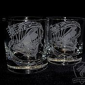 Посуда handmade. Livemaster - original item Pianist. Highball glasses. Handmade.