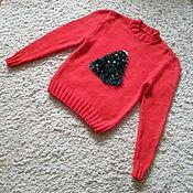 Одежда handmade. Livemaster - original item Sweater knitting new year (unisex). Handmade.