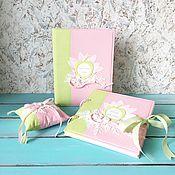 """Свадебный салон ручной работы. Ярмарка Мастеров - ручная работа Свадебный набор """"Зеленое яблочко"""". Handmade."""