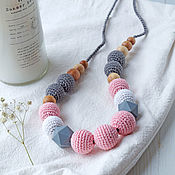 Одежда handmade. Livemaster - original item Slingobusy with silicone beads - Pink. Handmade.