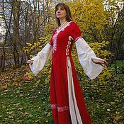 Русский стиль handmade. Livemaster - original item Dress Dana. Handmade.