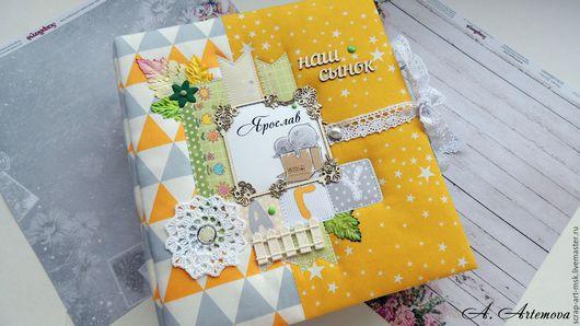 """Подарки для новорожденных, ручной работы. Ярмарка Мастеров - ручная работа. Купить Альбом первого года жизни """"Наш сынок Ярослав"""". Handmade."""