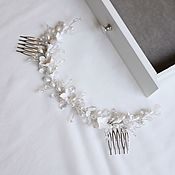 handmade. Livemaster - original item Wedding comb in the hairstyle, Decoration in the bride`s hairstyle with flowers. Handmade.