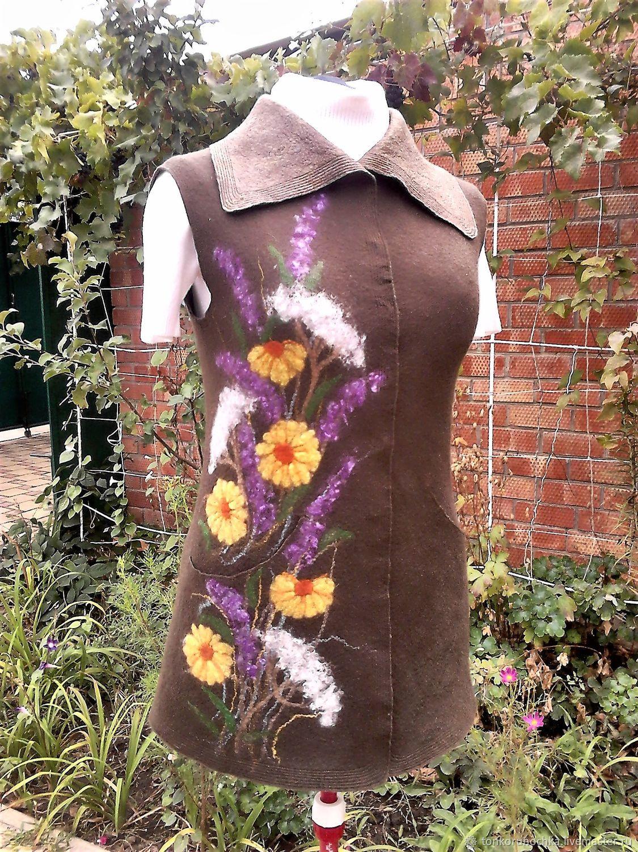 Felted vest 'Magic summer', Vests, Yeisk,  Фото №1