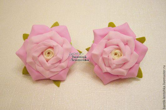 Резинки `Розовые розы` диаметр 5 см - 350 руб. 2 шт.