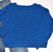 """Одежда ручной работы. Ярмарка Мастеров - ручная работа свитер """"Сапфир"""". Handmade."""