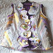 """Одежда ручной работы. Ярмарка Мастеров - ручная работа Лоскутный жилет """" Пора цветения"""". Handmade."""