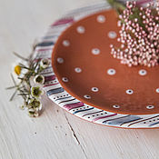 Посуда handmade. Livemaster - original item Plum pudding. Saucer/snack-bar serving patties plate handmade pottery. Handmade.