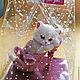 """Мыло ручной работы. Ярмарка Мастеров - ручная работа. Купить Сувенирное мыло 3 d """" Котенок в туфельке"""". Handmade."""