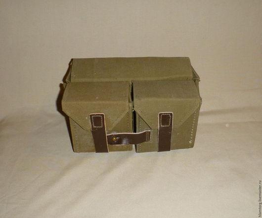Винтажные сумки и кошельки. Ярмарка Мастеров - ручная работа. Купить Сумка сапёра. Handmade. Оливковый, армия, дизельпанк, кожа