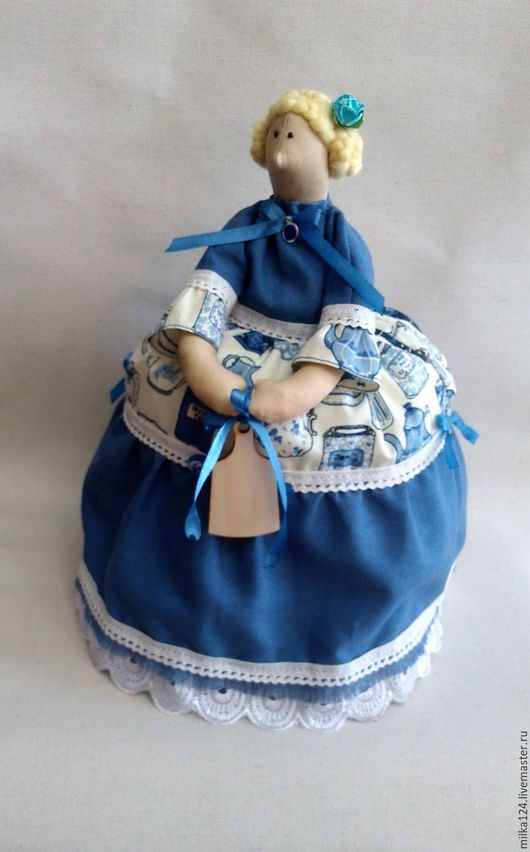 Куклы Тильды ручной работы. Ярмарка Мастеров - ручная работа. Купить Грелка на чайник. Handmade. Бежевый, интерьерная кукла