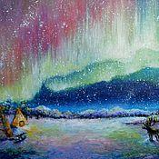 Картины и панно ручной работы. Ярмарка Мастеров - ручная работа Краски народов Севера. Handmade.