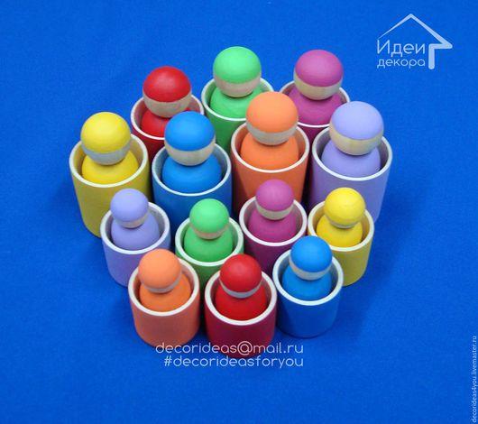 """Развивающие игрушки ручной работы. Ярмарка Мастеров - ручная работа. Купить Игра """"Разноцветные пупсики"""" для детей. Handmade. Детям"""
