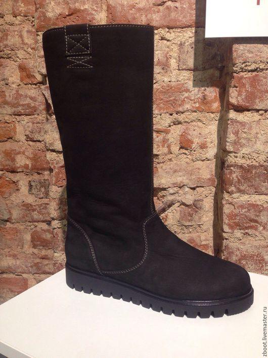 Обувь ручной работы. Ярмарка Мастеров - ручная работа. Купить Сапоги New Nubi. Handmade. Черный, натуральный нубук