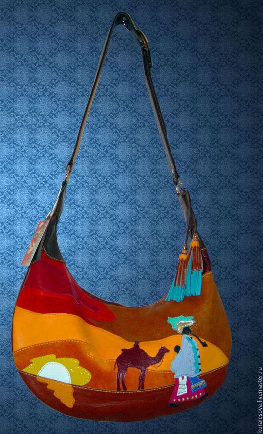 """Женские сумки ручной работы. Ярмарка Мастеров - ручная работа. Купить Кожаная сумка """"Африка"""". Handmade. Коричневый"""